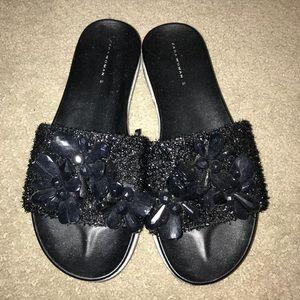 Jeweled sandals!